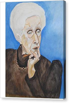 Canvas Print featuring the painting So Curious by Esther Newman-Cohen