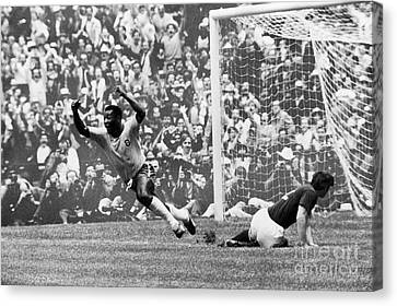 Pele Canvas Print - Soccer: World Cup, 1970 by Granger