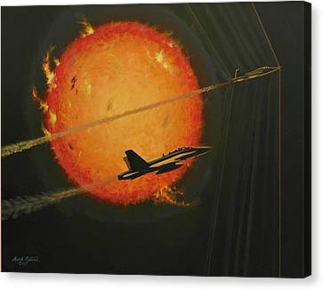 F-18 Canvas Print - Solar Sonic by Mark Pestana