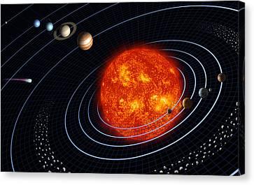 Solar System Canvas Print by Stocktrek Images