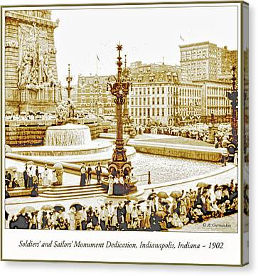 Soldiers' And Sailors' Monument Dedication, Indianapolis, Indian Canvas Print by A Gurmankin