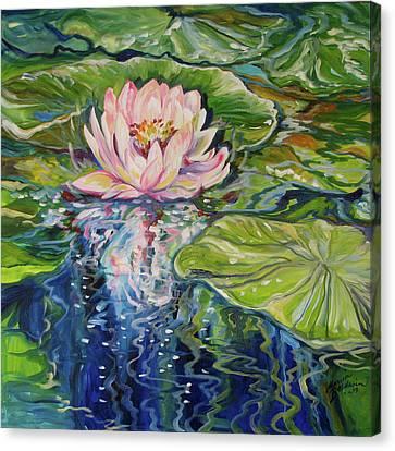 Canvas Print - Solitude Waterlily by Marcia Baldwin