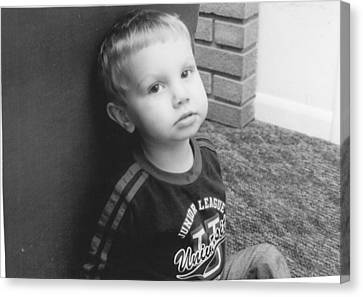 Somber Boy  Canvas Print by Lisa Hartsell