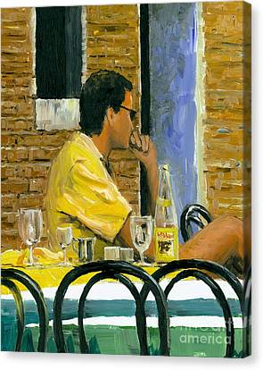 Canvas Print featuring the painting Somewhere In Venice by Michael Swanson