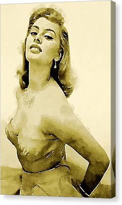 Sophia Loren By John Springfield Canvas Print