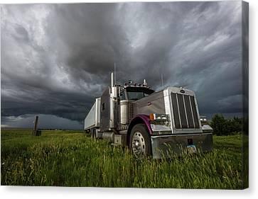 Soul Of A Trucker  Canvas Print by Aaron J Groen