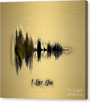 Sound Canvas Print - Sound Wave I Love You by Marvin Blaine