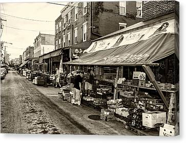 South Philly - Italian Market Canvas Print by Bill Cannon