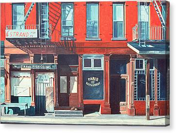 Fire Escape Canvas Print - South Street by Anthony Butera
