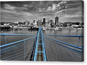 Color Canvas Print - South Tower - Selective Color by Russell Todd