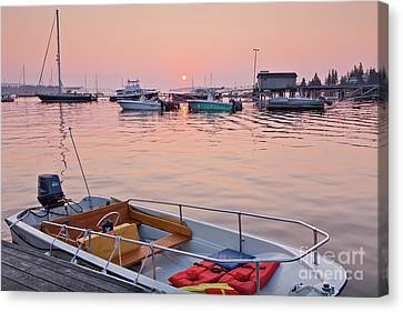Canvas Print featuring the photograph Southwest Harbor Sunrise by Susan Cole Kelly