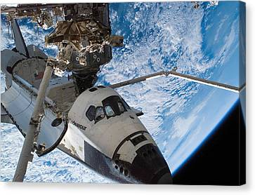 Space Shuttle Endeavour, Docked Canvas Print by Stocktrek Images