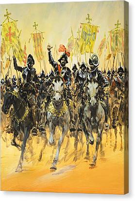 Spanish Conquistadors Canvas Print by Graham Coton