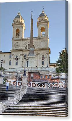 spanish steps in Rome Canvas Print by Joana Kruse
