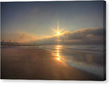 Sparkling Sunrise Canvas Print by Sharon Batdorf