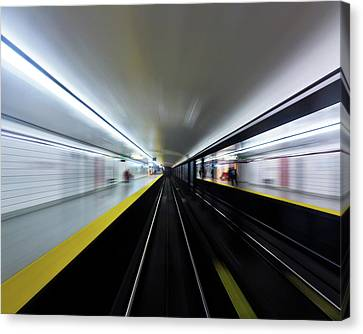 Canvas Print featuring the photograph Speed 3 by Brian Carson