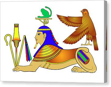 Sphinx - Mythical Creatures Of Ancient Egypt Canvas Print by Michal Boubin