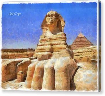 Sphinx - Free Style Canvas Print by Leonardo Digenio