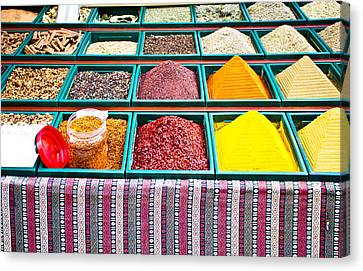 Spice Stall Canvas Print