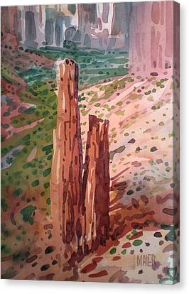 Spider Rock Canvas Print by Donald Maier