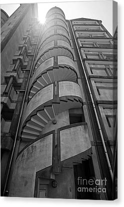 Canvas Print featuring the photograph Spiral Staircase by Aiolos Greek Collections