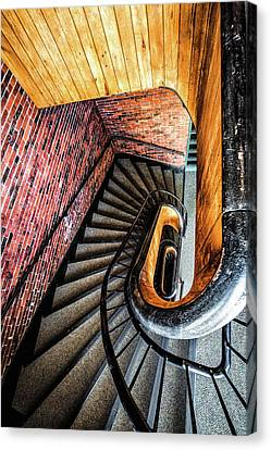 155 Canvas Print - Spiral Stairwell by Robert Clifford