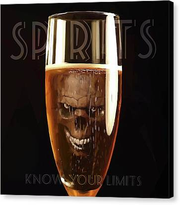 Spirits - Know Your Limits Canvas Print by ISAW Gallery