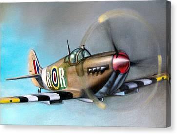 Spitfire  Canvas Print by Riek  Jonker