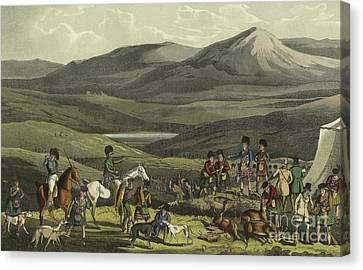 Sporting Meeting In The Highlands Canvas Print