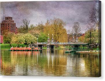 Canvas Print featuring the photograph Spring In The Boston Public Garden by Joann Vitali