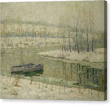 Lawson Canvas Print - Spring Thaw by Ernest Lawson