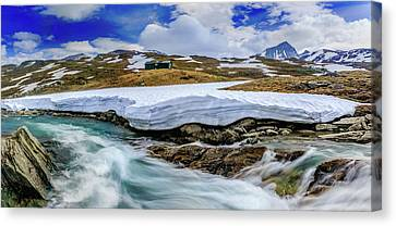 Canvas Print featuring the photograph Spring Waters by Dmytro Korol