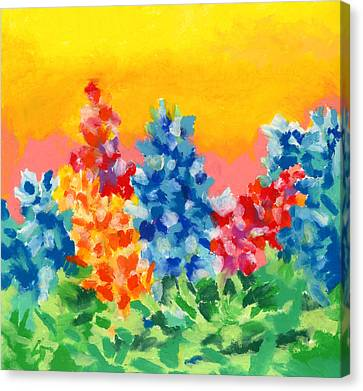 Canvas Print featuring the painting Spring Wildflowers by Stephen Anderson