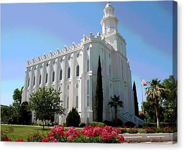 St George Canvas Print - St George Utah Temple by Patricia Haynes