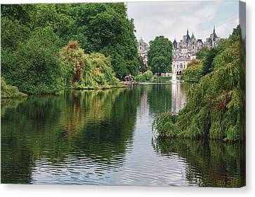 St James Park Canvas Print by Shirley Mitchell