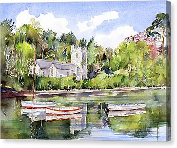 St Just In Roseland Church Canvas Print