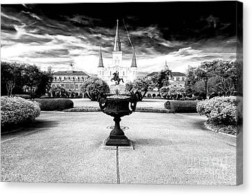 St.louis Cathedral Canvas Print - St. Louis Cathedral Drama by John Rizzuto