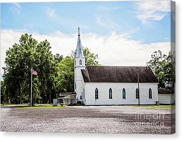 St. Margaret Catholic Church - Springfield Louisiana Canvas Print by Scott Pellegrin