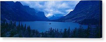 St. Mary Lake, Glacier National Park Canvas Print by Panoramic Images