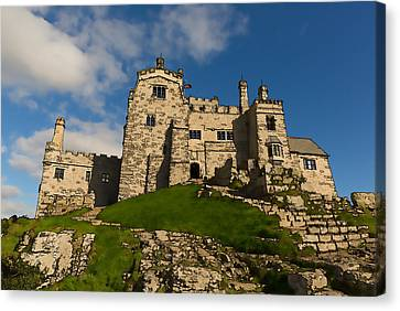 St Michaels Mount Marazion Cornwall England Uk Medieval Castle And Church On An Island  Canvas Print