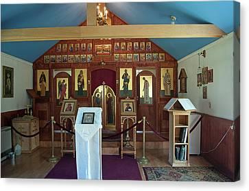 St Nicholas Russian Orthodox Church Canvas Print by Cathy Mahnke