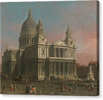 St. Paul's Cathedral Canvas Print by Canaletto