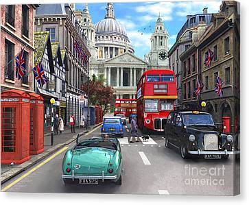 St Paul's Cathedral Canvas Print by Dominic Davison