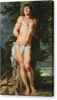 St. Sebastian  Canvas Print by Peter Paul Rubens