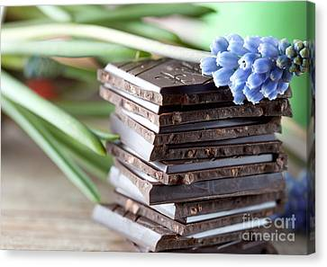 Stack Of Chocolate Canvas Print by Nailia Schwarz
