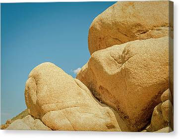 Stacked Boulders Joshua Tree Canvas Print by Amyn Nasser