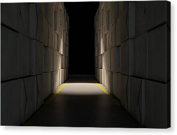 Stacked Boxes Warehouse Canvas Print