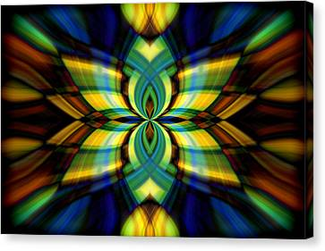 Stained Glass Canvas Print by Cherie Duran