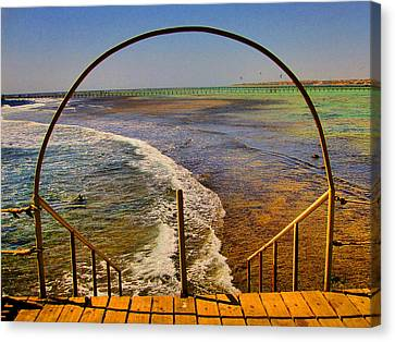 Stairway To The Sea. Sea. Rusty Iron And Corals. Canvas Print by Andy Za