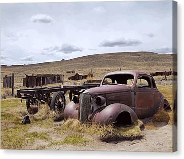 Stalled In Bodie Canvas Print by Gordon Beck